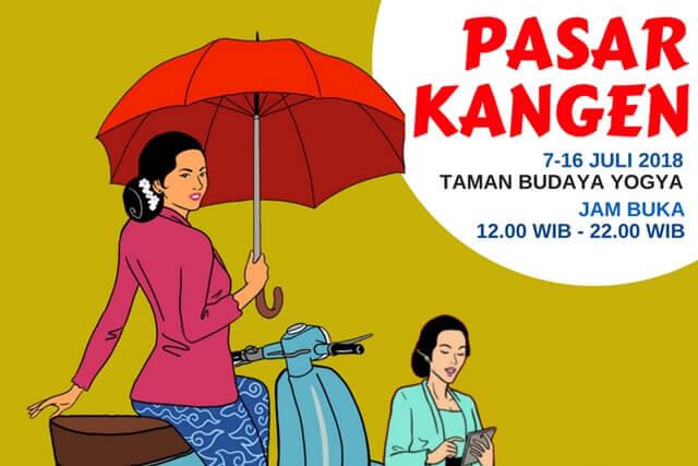Bakal Ada 80 Stan Kuliner Tradisional di Pasar Kangen Jogja 2018!