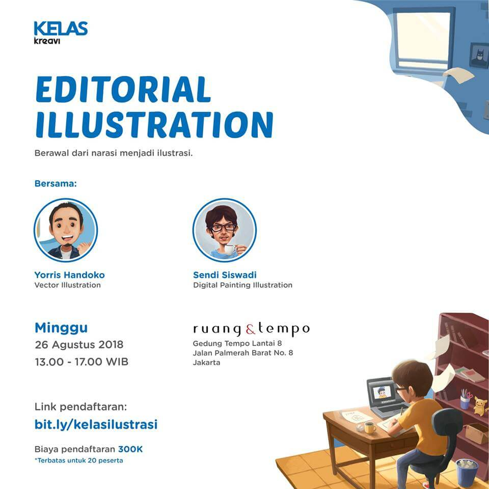 kelas kreavi edisi editorial illustration