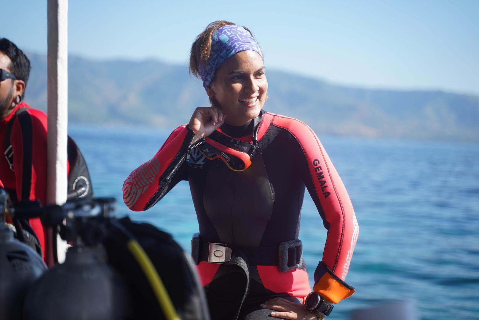 Gemala dan Kecintaannya pada Laut Indonesia