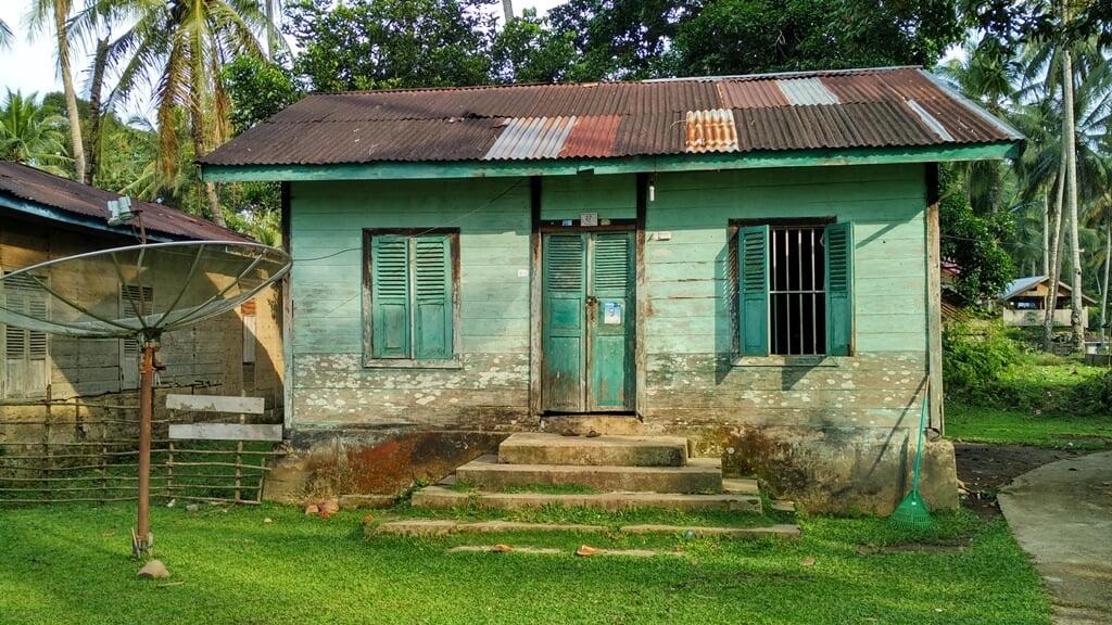 Salah satu rumah di Desa Tanjung Belit/Syukron