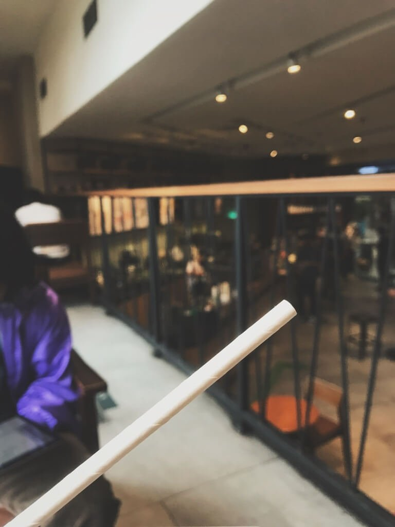 Paper straw Starbucks
